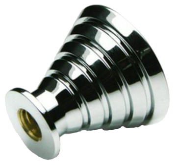 802 Rainbow Collection Chrome Plated Cone Shaped Rippled 25mm Knob