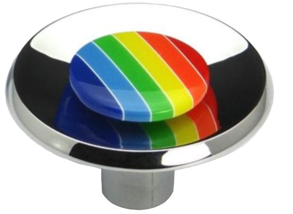Rainbow Collection Chrome Plated Round Dish Shaped 40mm Knob