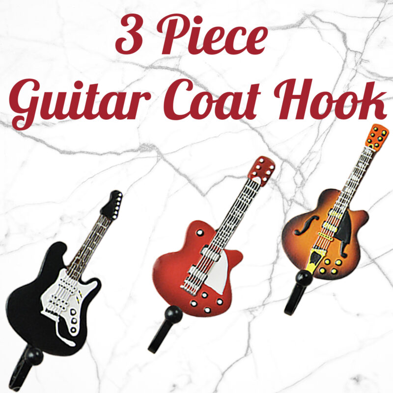 3pcs Guitar Robe Decorative Creative Coat Hooks