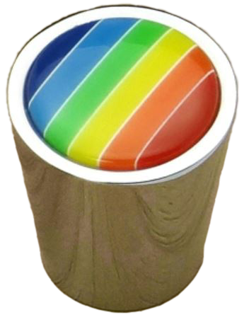 Rainbow Collection Chrome Plated Cone Shaped 25mm Knob