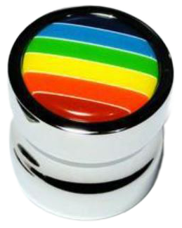 Rainbow Collection Chrome Plated Concave Shaped 25mm Knob