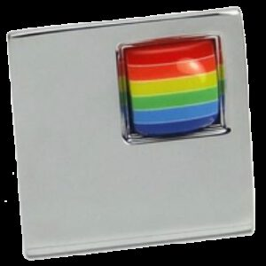 Rainbow Collection Chrome Plated Large Square 40mm Knob