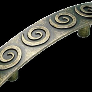 Cordoba Collection Nautilus Spiral Antique Brass 64mm Handle