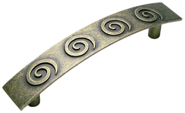 Cordoba Collection Nautilus Spiral Antique Brass 96mm Handle