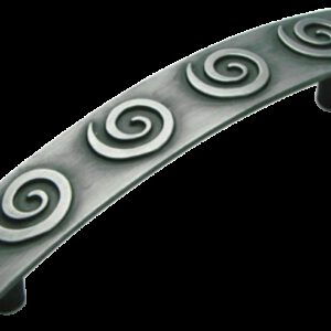 Cordoba Collection Nautilus Spiral Antique Iron 96mm Handle