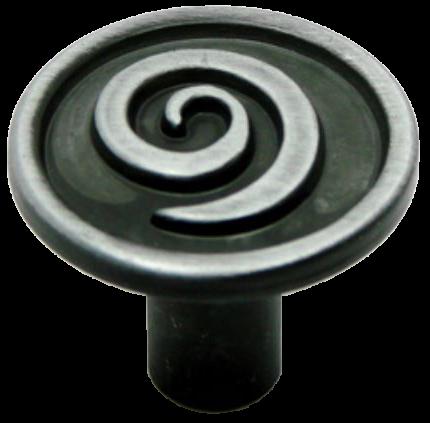 Cordoba Collection Nautilus Spiral Antique Iron 30mm Knob
