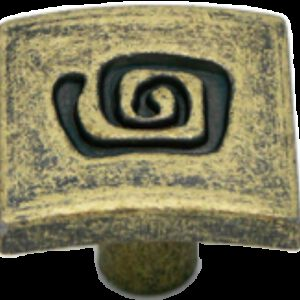 Cordoba Collection Ulam Spiral Antique Brass 25mm Knob