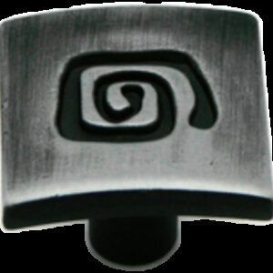 Cordoba Collection Ulam Spiral Antique Iron 25mm Knob
