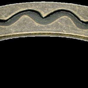 Cordoba Collection Ulam Spiral Antique Brass 96mm Handle