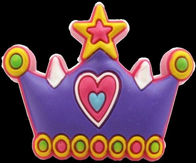 Pretty Purple Princess Tiara Crown 43mm Rubber Knob