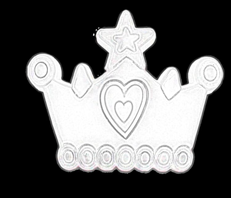 853 Pretty Purple Princess Tiara Crown 43mm Rubber Knob