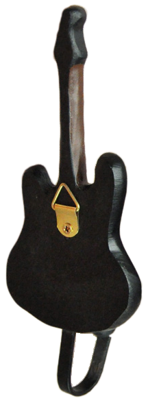 Fender Stratocaster Guitar Shaped Decorative Coat Hook in Black