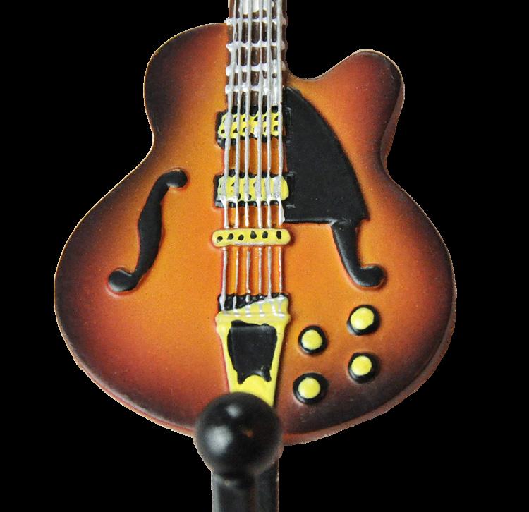 Gibson Les Paul Guitar Shaped Decorative Coat Hook in Vintage Sunburst