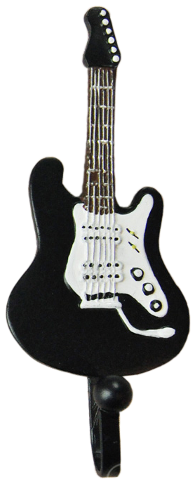 3 Piece Guitar Shaped Decorative Coat Hook Pack