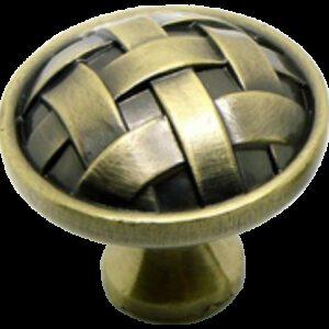 Cordoba Collection Celosia Antique Brass 34mm Round Knob