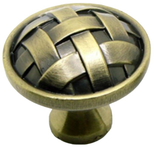 Cordoba Collection Celosia Antique Brass 34mm Round Knob