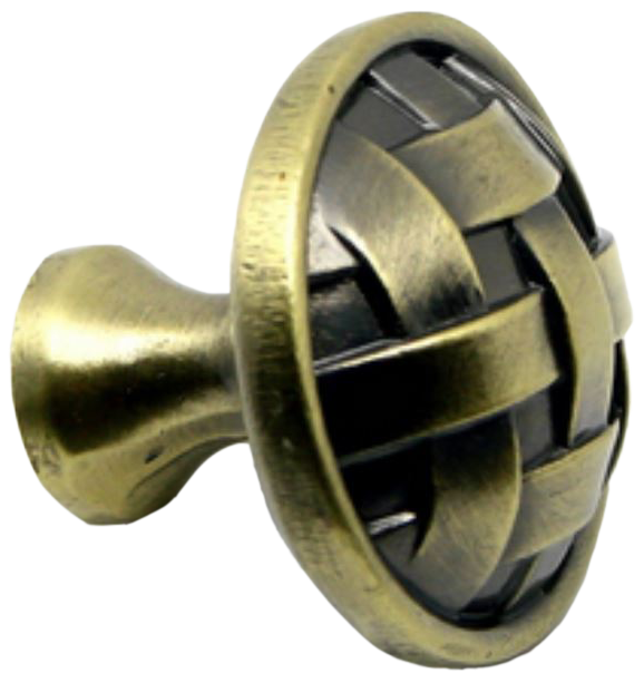 870 Cordoba Collection Celosia Antique Brass 34mm Round Knob
