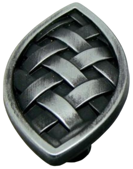 879 Cordoba Collection Celosia 50mm Vesica Piscis Antique Iron Knob