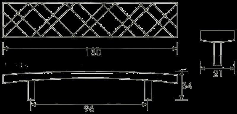 Cordoba Collection Celosia Antique Iron 96mm Handle