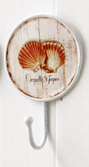 892 Coquilles Saint Jacques Scallop Shell Decorative 170mm Coat Hook