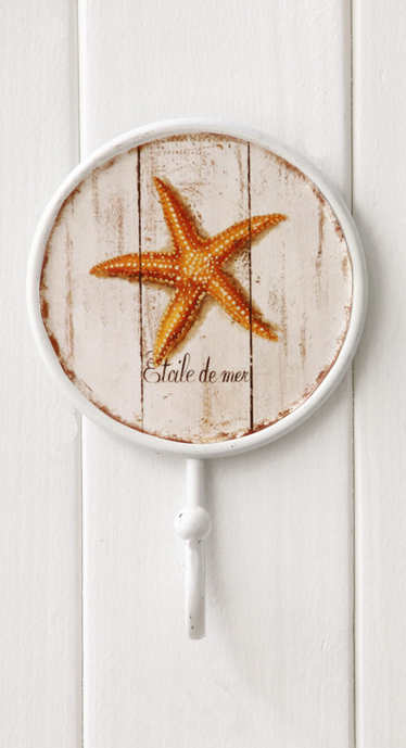 896 Etoile De Mer Starfish Decorative 170mm Coat Hook