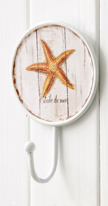 897 Etoile De Mer Starfish Decorative 170mm Coat Hook
