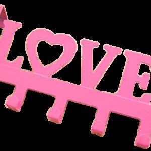 Love in Pink Decorative 335mm 5 Hook Coat Rack for Doors