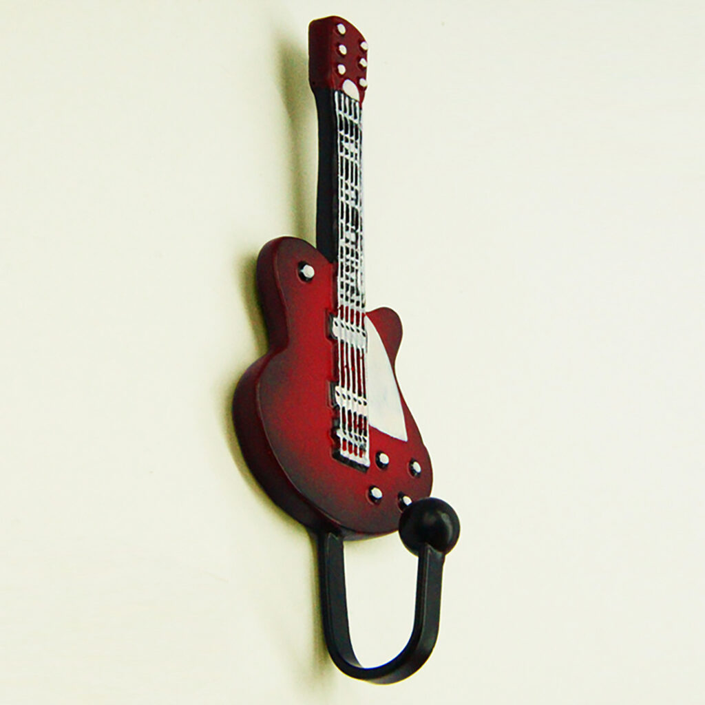 Creative Guitar Resin Coat Hat Robe Hanger Clapboard Walls Decoration Coat Hooks Clothes Hanging Wall Hook3 1