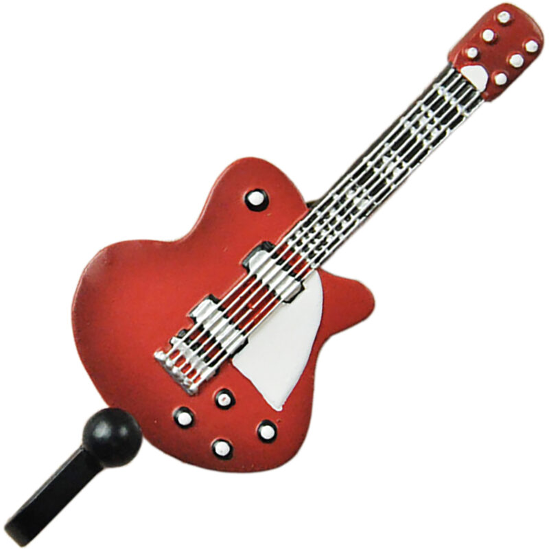 Fender Telecaster Guitar Shaped Decorative Coat Hook In Candy Apple Red 00