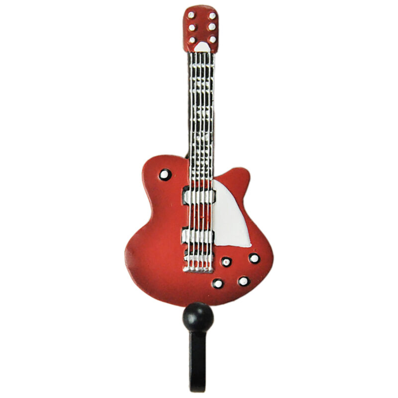 Fender Telecaster Guitar Shaped Decorative Coat Hook In Candy Apple Red 01