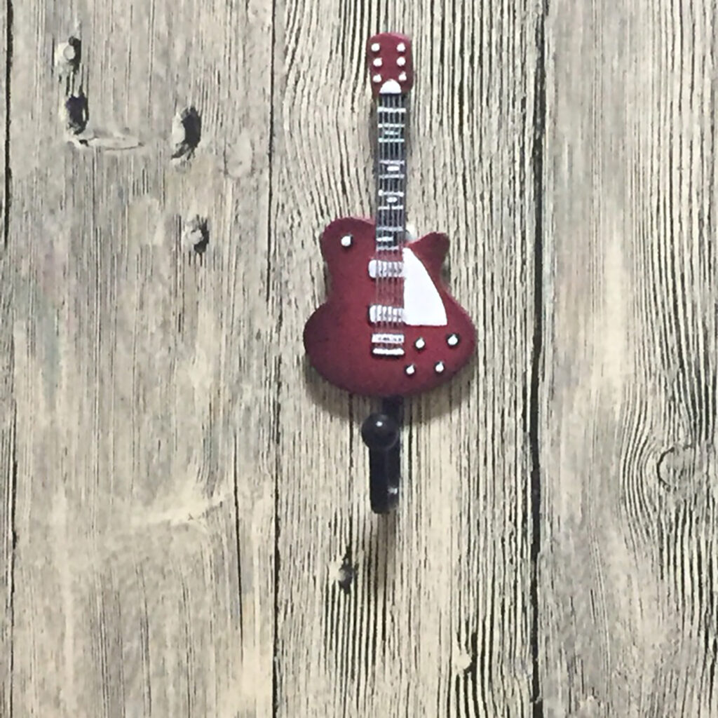 Fender Telecaster Guitar Shaped Decorative Coat Hook In Candy Apple Red 1 1