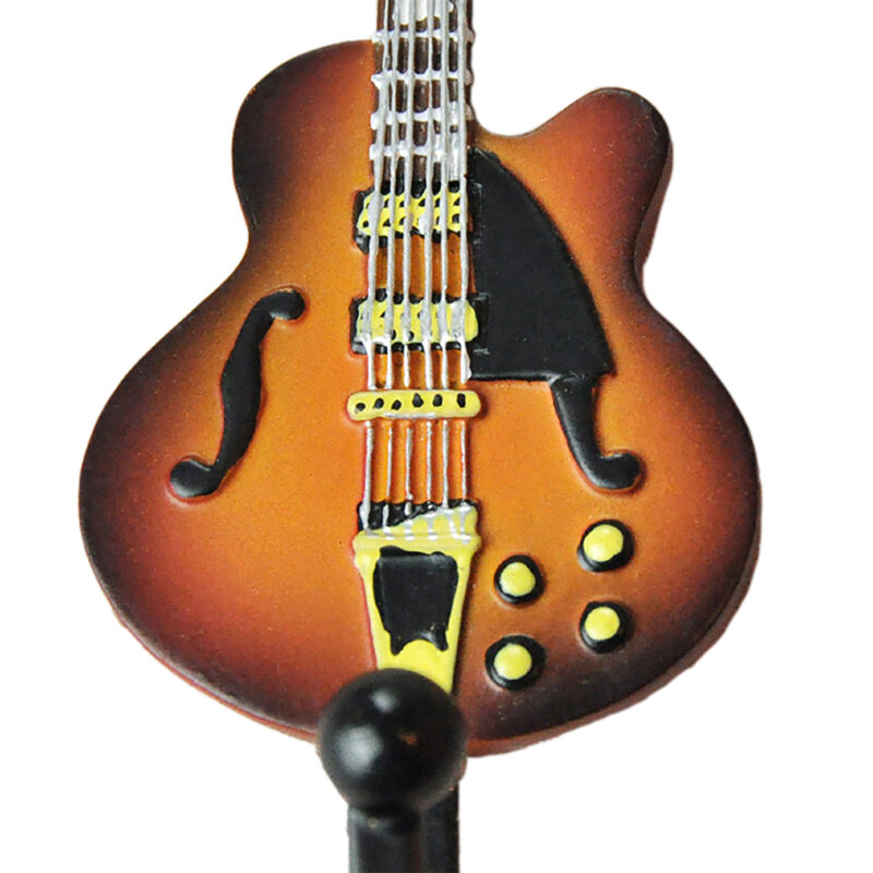 Gibson Les Paul Guitar Shaped Decorative Coat Hook In Vintage Suburst 02