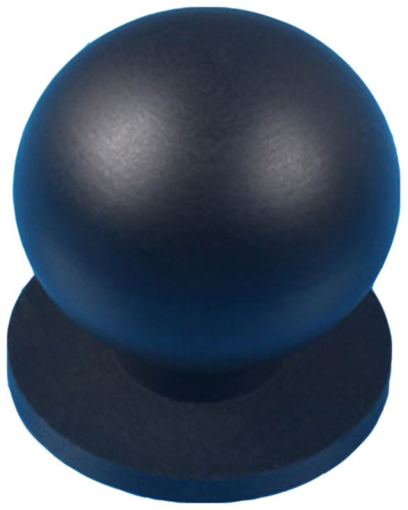 Sencillo Eleganta Asiatico Black 25mm Round Knob with Base Plate