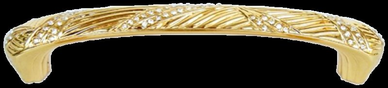 1062 Armario Leaf Gold Diamante 128mm Handle