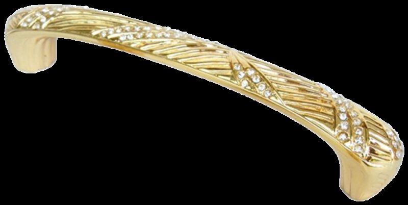 Armario Leaf Gold Diamante 128mm Handle