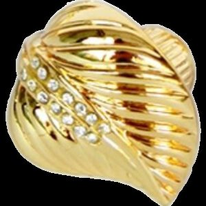 Armario Leaf Gold Diamante 35mm Knob