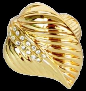 Armario Leaf Gold Diamante 35mm Knob