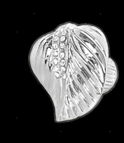 1067 Armario Leaf Gold Diamante 35mm Knob
