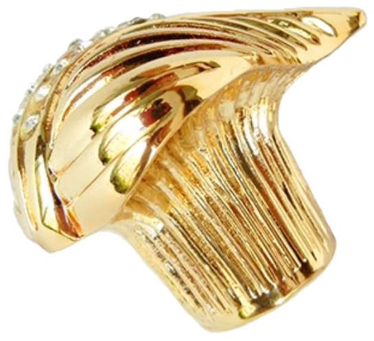 1069 Armario Leaf Gold Diamante 35mm Knob