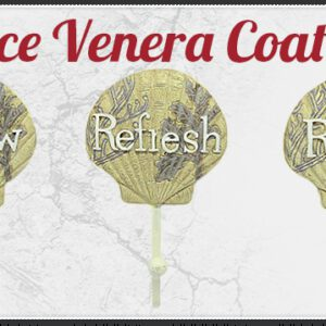 3 Piece Venera Scallop Sea Shell Decorative Coat Hooks