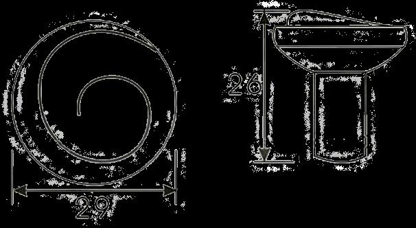 1160 Cordoba Collection Nautilus Spiral Antique Iron 29mm Knob