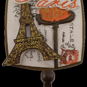Villes Du Monde Paris Decorative Coat Hook
