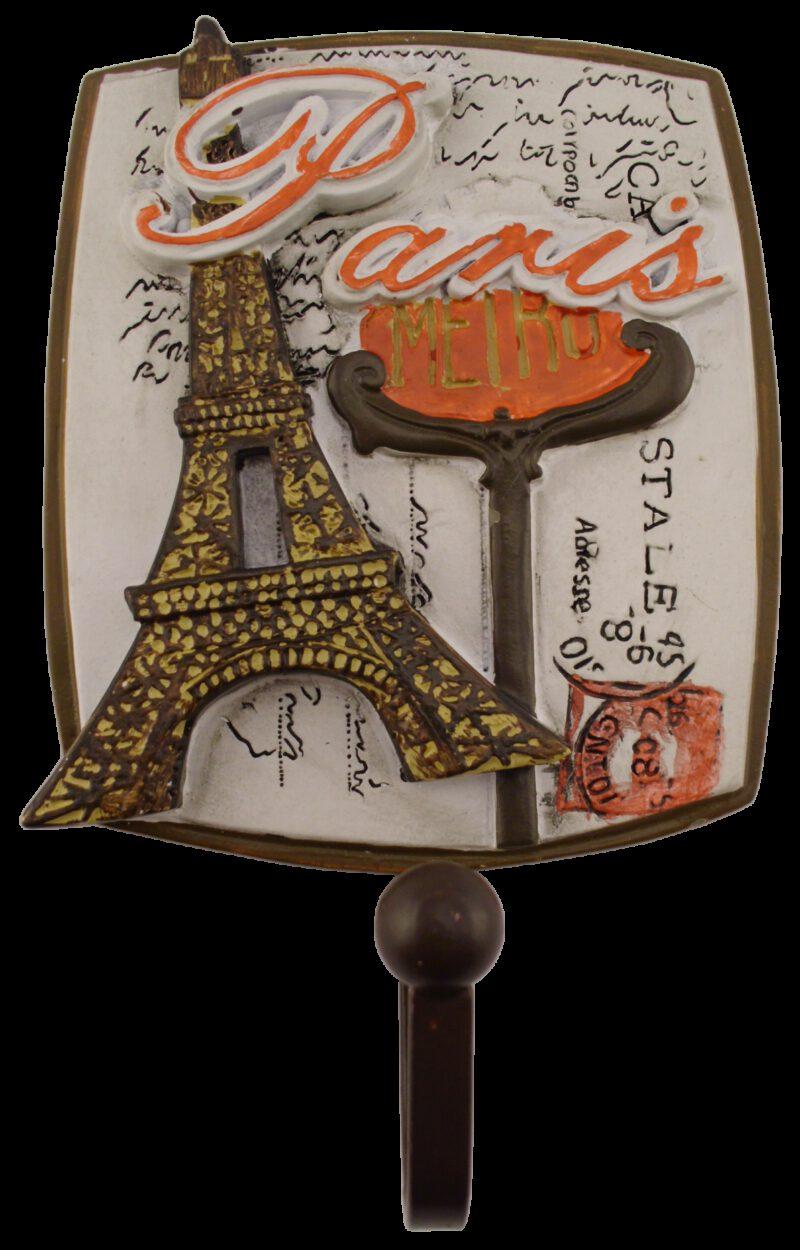 Villes Du Monde Paris Decorative Coat Hook