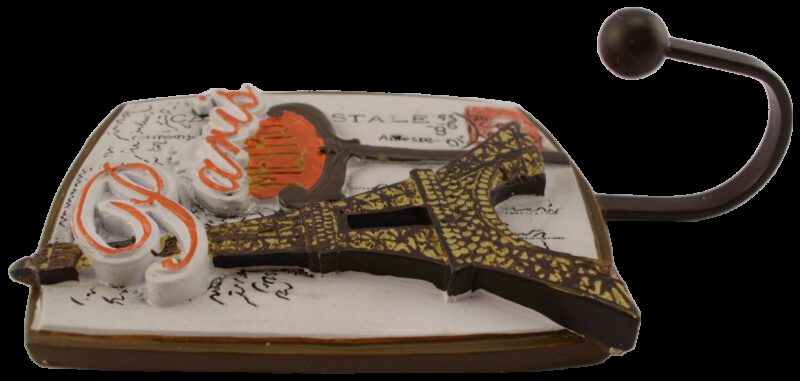1195 Villes Du Monde Paris Decorative Coat Hook