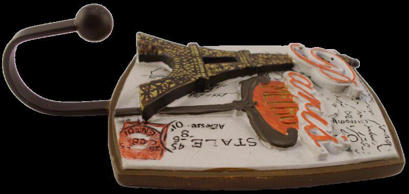 1196 Villes Du Monde Paris Decorative Coat Hook