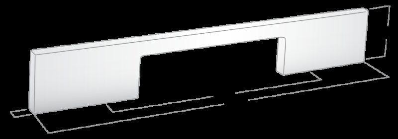1226 Sencillo Eleganta Kenina Pure Black 224mm Bar Handle