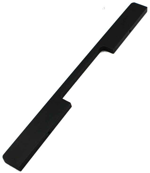 1233 Sencillo Eleganta Kenina Pure Black 224mm Bar Handle