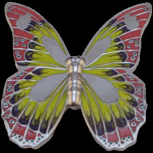 Pink Yellow Chrome Monarch Butterfly 32mm Zinc Alloy Handle
