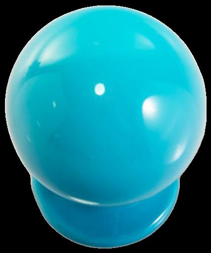 1262 Vibrante Perilla Azul 20mm Round Blue Knob