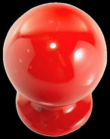 1270 Vibrante Perilla Roujo 20mm Round Red Knob